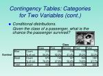 contingency tables categories for two variables cont
