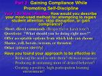 part 2 gaining compliance while promoting self discipline