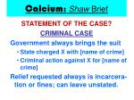 calcium shaw brief13