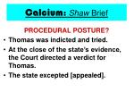 calcium shaw brief16