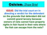 calcium shaw brief23