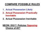 compare possible rules27