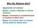 why no ratione soli