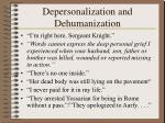 depersonalization and dehumanization