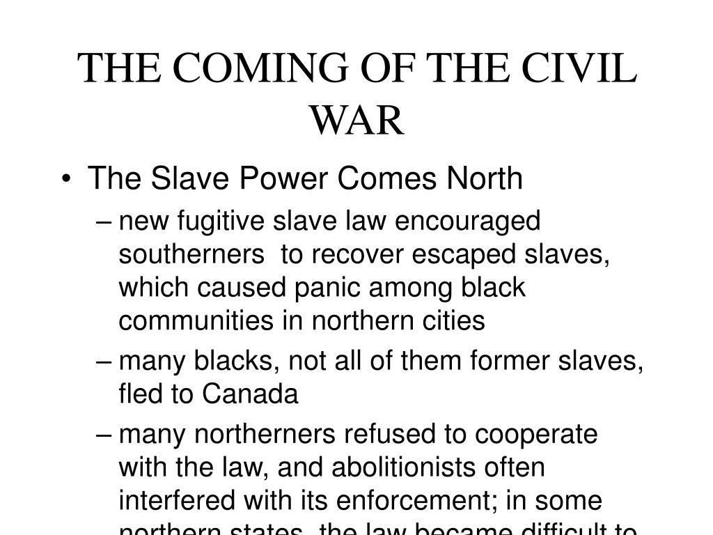 the coming of the civil war l.