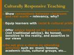 culturally responsive teaching19