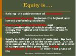 equity is