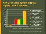 new jobs increasingly require higher level education