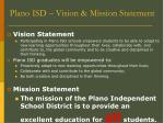 plano isd vision mission statement
