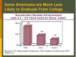 some americans are much less likely to graduate from college