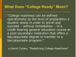 what does college ready mean