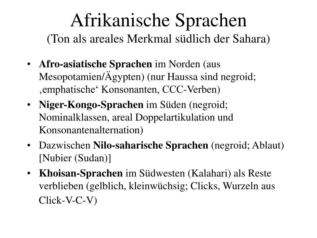 afrikanische sprachen ton als areales merkmal s dlich der sahara l.