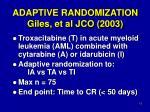 adaptive randomization giles et al jco 2003