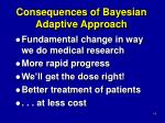 consequences of bayesian adaptive approach