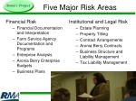 five major risk areas9