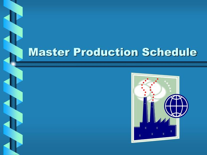 master production schedule n.