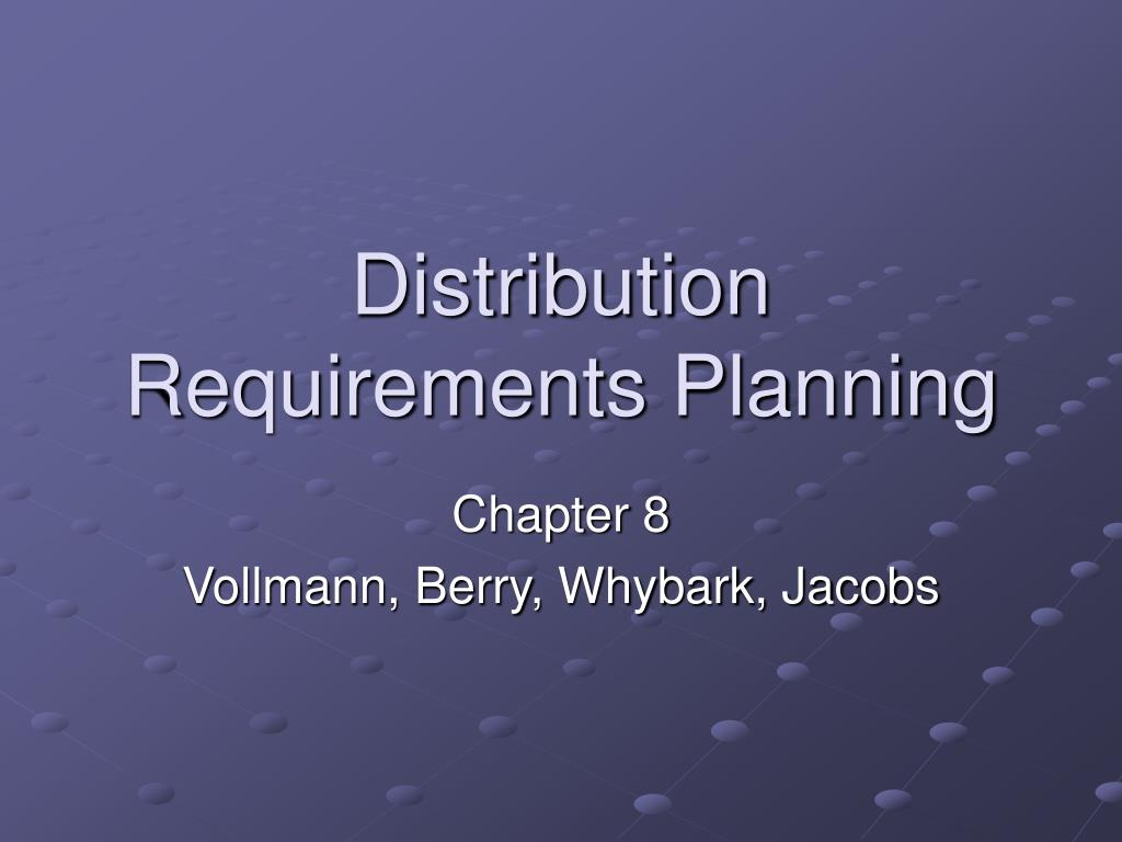 distribution requirements planning l.
