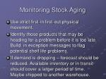 monitoring stock aging