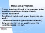 harvesting practices