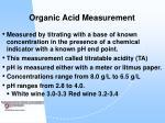 organic acid measurement