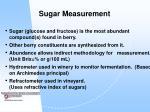 sugar measurement