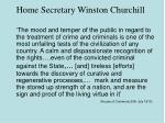 home secretary winston churchill