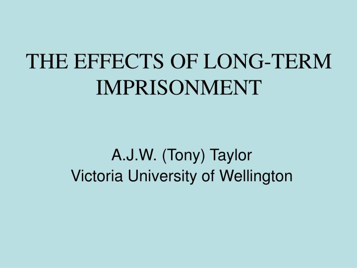 the effects of long term imprisonment n.