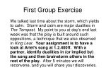 first group exercise