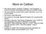 more on caliban