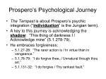 prospero s psychological journey