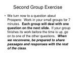 second group exercise