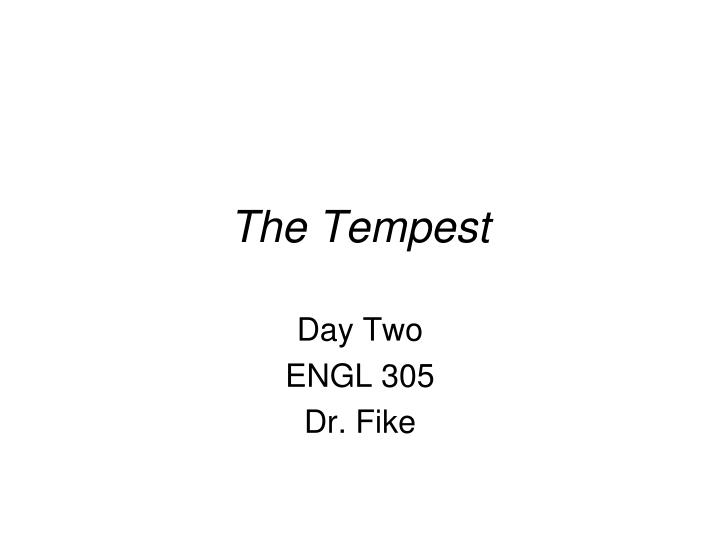 the tempest n.