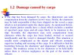 1 2 damage caused by cargo