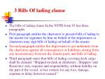 3 bills of lading clause