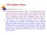 4 exceptions clause
