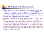 5 2 conflict with other clauses