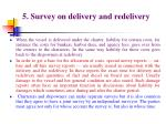 5 survey on delivery and redelivery