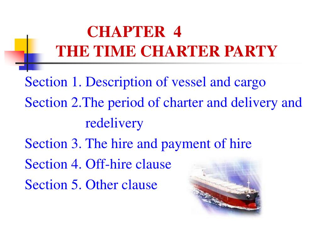 chapter 4 the time charter party l.