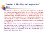 section 3 the hire and payment of hire