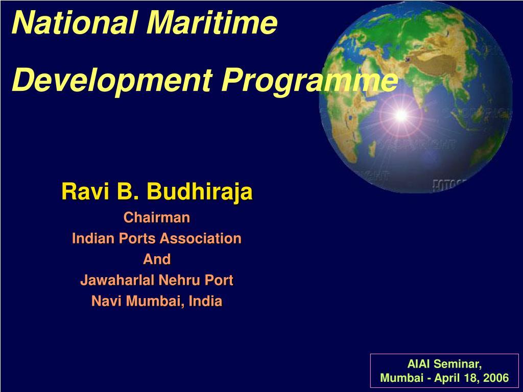 national maritime development programme l.