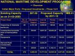 national maritime development programme overview