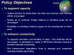 policy objectives contd