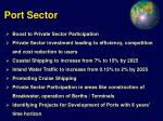 port sector