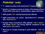 potential india