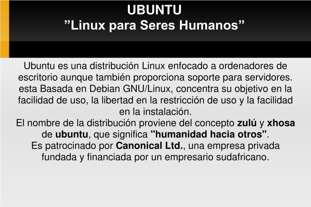 ubuntu linux para seres humanos l.