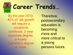 career trends