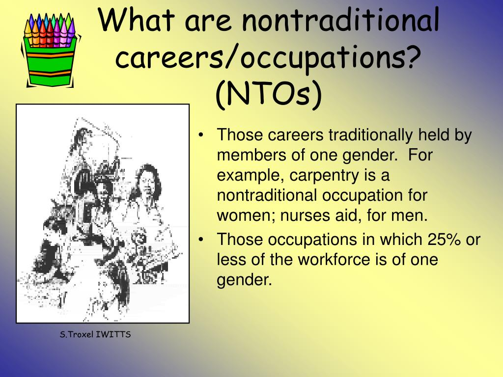 What are nontraditional careers/occupations? (NTOs)