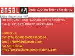 ansal sushant serene residency5