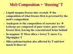 melt composition freezing t
