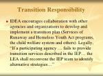 transition responsibility